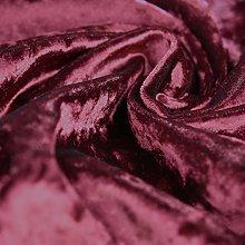 Bling Crushed Velvet Fabric Wine - Ideal for