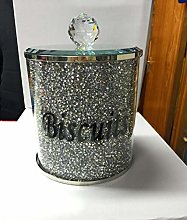 bling crystals crushed diamonds biscuits jar