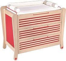 Bliss 3 Drawer Dresser Isabelle & Max Colour: Red