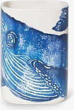 BlissHome Creatures Whale Ceramic Utensil Pot, Blue