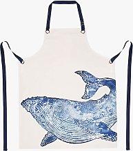 BlissHome Creatures Whale Cotton Apron, Blue