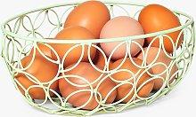 BlissHome Nadiya Hussain Wire Egg Basket, Green