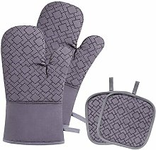 Blisstime Heat Resistant Oven Mitts and Pot