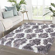 Blivener Shaggy Faux Sheepskin Rug Soft Touch Fur