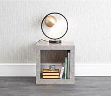 Bloc Lamp Table Cube Concrete