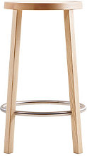 Blocco Bar stool - Wood - H 63 cm by Plank Natural