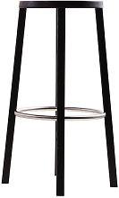 Blocco Bar stool - Wood - H 76 cm by Plank Black