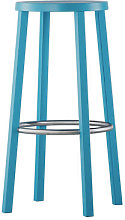 Blocco Bar stool - Wood - H 76 cm by Plank Blue