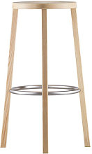 Blocco Bar stool - Wood - H 76 cm by Plank Natural