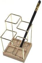 Block Design - Brass Sketch Desk Tidy - brass -