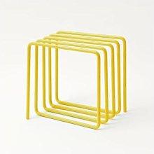 Block Design - Magazine Rack - Yellow
