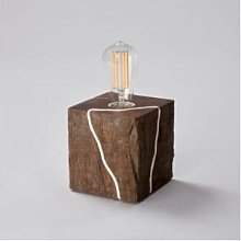 Blom & Blom - Cape Fox Wooden Block Desk Lamp -
