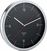 blomus Radio Clock, Black, 24 x 24 x 4,5 cm