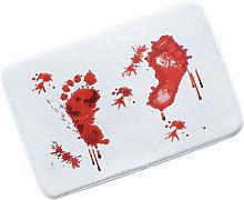 Blood Bath Mat, Halloween Bath Mat Bloody Mat Red