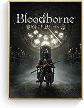 Bloodborne Hunter Dark Game Poster And Canvas