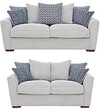 Bloom Fabric 3-Seater + 2-Seater Sofa Set (Buy And