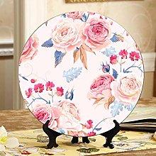 Blooming English Rose Watercolor Ceramic Dish