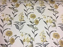 Bloomingdales Cotton/Linen Yellow/Grey140cm/54
