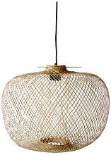 Bloomingville - Beige Bamboo Hanging Lamp - beige