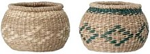 Bloomingville - Green or Natural Seagrass Basket -