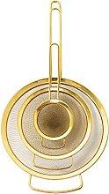 Bloomingville Sieve Strainer Set of 3, Gold