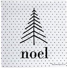 Bloomingville - White Dots Christmas Napkins -