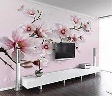 Blovsmile Custom Pink Lily Flowers Photo Wallpaper