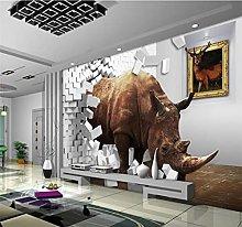 Blovsmile Rhinoceros Photo Wallpaper for Wall