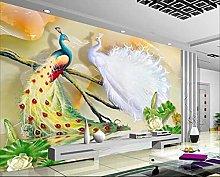 Blovsmile Wallpaper for Walls 3D Carved Jade Wall