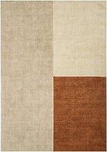 Blox Copper & Cream Wool Rug 160x230cm