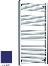 Blue 1000mm x 300mm Straight 22mm Towel Rail -