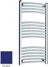Blue 1000mm x 500mm Curved 22mm Towel Rail -