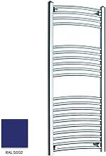 Blue 1200mm x 300mm Curved 22mm Towel Rail -