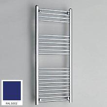 Blue 1200mm x 500mm Straight 22mm Towel Rail -