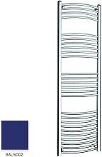 Blue 1600mm x 400mm Curved 22mm Towel Rail -