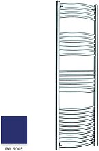 Blue 1600mm x 500mm Curved 22mm Towel Rail -