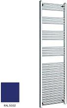 Blue 1800mm x 500mm Straight 22mm Towel Rail -