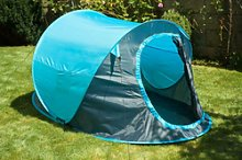 Blue 2 Man Person Pop Up Tent Camping Hiking