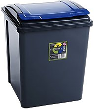 Blue 50 Litre Plastic Waste Bin High Quality with
