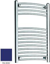 Blue 800mm x 300mm Curved 22mm Towel Rail -