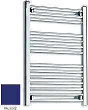 Blue 800mm x 400mm Straight 22mm Towel Rail -
