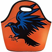 Blue Abstract Raven Angry Bird Sport Mascot