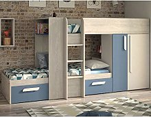 Blue and Oak Kids Storage Bed, Happy Beds Barca