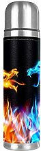 Blue and Red Fire Dragons Stainless Steel Vacuum