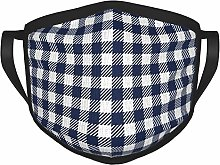 Blue And White Checkered Tablecloth Adult 's