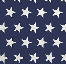 Blue and White Large Star PVC Vinyl Wipe Clean