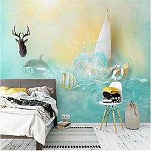 Blue Beautiful Sea Dolphin Goldfish Nordic Sofa