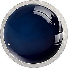 Blue Black Background 4PCS Round Shape Cabinet