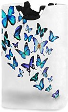 Blue Butterfly Laundry Hamper Laundry Basket Dirty