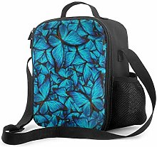 Blue Butterfly Upgrade Lunch Tote Box, Blue